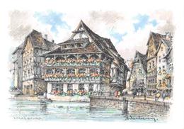 Illustrateur - STRASBOURG - Le Bain Aux Plantes - N° 2109 G - M. Barré & J. Dayez - Autres Illustrateurs