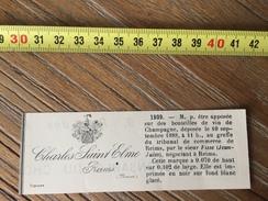 MARQUE DEPOSEE 1888 ETIQUETTE VIN CHAMPAGNE CHARLES SAINT ELME JEAN JULES FISSE NEGOCIANTS A REIMS - Collections