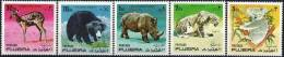 FUJEIRA, Animaux, Tigre, Koala, Ours, Rhinoceros. Yvert 792/96  ** MNH. - Francobolli