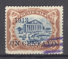GUATEMALA 1913: Sc 151 / YT 153, O - FREE SHIPPING ABOVE 10 EURO - Guatemala