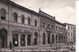 H732 ROVIGO - PIAZZA GARIBALDI - CAFFE' BORSA E TEATRO SOCIALE - Rovigo