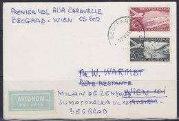 "Yugoslavia 1965 ""AUA"" First Flight Caravelle Beograd - Vienna, Private Airmail Card - 1945-1992 Repubblica Socialista Federale Di Jugoslavia"