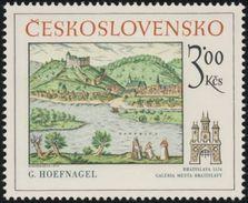 "Czechoslovakia / Stamps (1977) 2289: Georg (Joris) Hoefnagel (1542-1601) ""Bratislava"" (1574); Bratislava City Gallery"