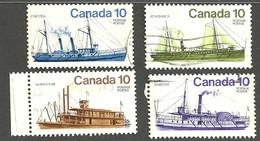 Sc. #700-703 Ships Used Set 1976 K297 - 1952-.... Règne D'Elizabeth II