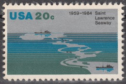 USA 1984, 25th ANNIVERSARY SAINT LAWRENCE SEAWAY, COMPLETE, MNH SET, GOOD QUALITY, *** - United States
