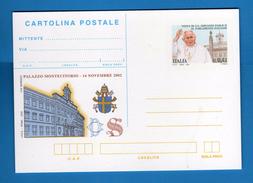 Italia **- 2002 - Cartolina Postale - S.S. Giovanni Paolo II. - Interi Postali