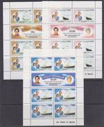 The Grenadines Of St. Vincent 1981 Royal Wedding 3v Sheetlets (34287) - St.-Vincent En De Grenadines