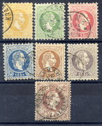 AUSTRIA 1867 Franz Joseph Coarse Print Set To 50 Kr., Fine Used - 1850-1918 Empire