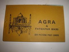 C P  INDE  AGRA   CARNET De 20 - Cartes Postales
