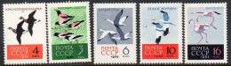 Russia 2683-87 Flamigo Goose Crane Flaw On 2686 MNH From 1962