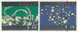 Norway   1998   Sc#1196-7  Minerals Set  MNH**  2016 Scott Value $3.75 - Minerales