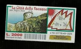 Gratta E Vinci - Le Città Delle Vacanze - San Felice Circeo - Lotto 170 - Biglietti Della Lotteria