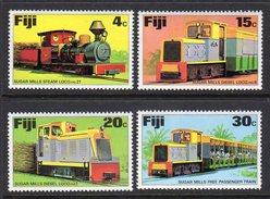 FIJI - 1976 SUGAR TRAINS SET (4V) FINE MNH ** SG 526-529 - Fiji (1970-...)