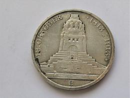 Saxony. Friedrich August III, 3 Mark 1913 E Battle Of Leipzig Centennial. - 2, 3 & 5 Mark Zilver