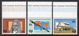 FIJI - 1981 PARLIAMENTARY ASSOCIATION CONFERENCE SET (3V) WITH PRINTERS MARGIN FINE MNH ** SG 620-622 - Fiji (1970-...)