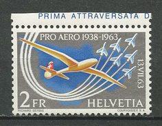 SUISSE PA 1963 N° 45 Neuf ** MNH  Superbe Cote 4.50 € PRO AERO Avions Planes Traversée Aérienne Des Alpes Bider Tra - Neufs