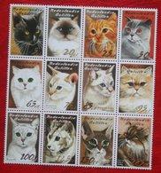 Katten Cats Katze Chats NVPH 1460-1471 2003 MNH POSTFRIS NEDERLANDSE ANTILLEN  NETHERLANDS ANTILLES - Niederländische Antillen, Curaçao, Aruba