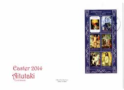 Aitutaki 2014, Easter, Painting By Rubens, Vecelli, Francesca, 6val In BF In FDC - Aitutaki