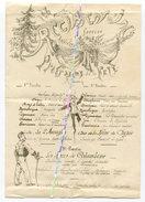 159e RI ( BRIANCON ) / 1892 / PROGRAMME FETE DE L' ANNIVERSAIRE DE LA REMISE DU DRAPEAU / 159e REGIMENT D' INFANTERIE - Documents