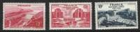 """FR YT 817 818 819 """" Barrage Et Palais De Chaillot """" 1948 Neuf* - France"""