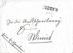 VORPHILATELIE → 1825 -1835 Brief Mit Balkenstempel THOUNE  ►Winkler-Nr.1097/4◄ - Suisse
