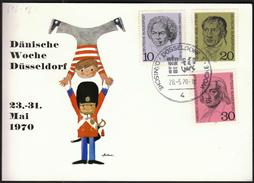 Germany Dusseldorf 1970 / Danish Week / Dänische Woche / Children Play / Coat Of Arms - Childhood & Youth
