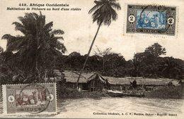 AFRIQUE OCCIDENTALE   Habitations De Pêcheurs Au Bord D'une Rivière - Senegal
