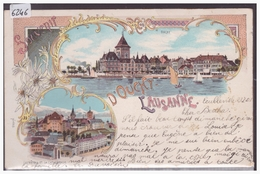LAUSANNE - LITHO - B ( FENTE 8mm EN BAS A GAUCHE ) - VD Vaud