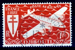 French Somali Coast, Airmail, London Set, 1fr., 1943, VFU - French Somali Coast (1894-1967)