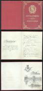 SPLENDIDO LIBRETTO DI STATO CIVILE DI TORINO 1907 CONIUGI SERAFIN DI CAVARZERE - Annunci Di Nozze