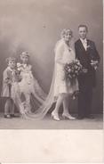 AK Brautpaar - Hochzeit - Kinder - Ca. 1920 (26308) - Noces