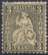 Stamp Switzerland 1862-64 3c Mint Lot#19 - 1862-1881 Helvetia Seduta (dentellati)