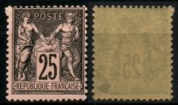 France N° 97 Neuf ** Signé Calves - Cote 180 Euros - TTB Qualité - 1876-1898 Sage (Type II)