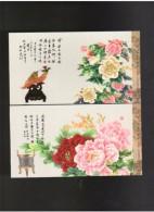 2013 China Chinese Peony Pre-stamped Postcards 6v - 1949 - ... Repubblica Popolare