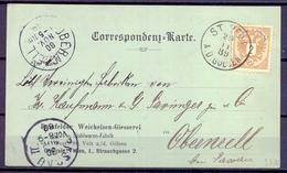 1889 AUSTRIA , ENTERO POSTAL CIRCULADO ENTRE ST. VEIT AN DER GÖLSEN Y OBERNZELL , LLEGADA - Briefe U. Dokumente