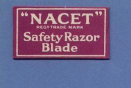 Une Lame De Rasoir  NACET  Safety Razor Blade  (L59) - Lames De Rasoir