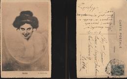 9239) NOME MATILDE DONNA DENTRO VASCA DA BAGNO VIAGGIATA 1907 - Nomi