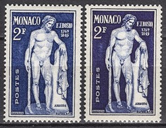 MONACO 1948  - Y.T. N° 316 X 2 TONS DE COULEUR - NEUFS** C1 - Abarten