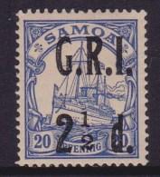 Western Samoa 1914 GRI SG 104a No Fraction Bar Mint Hinged - Samoa