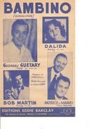 Partition- Bambino - G. Guetary / Dalida / Bob Martin  - Paroles: Jacues LARUE  Musique: G. Fanciulli - Non Classés
