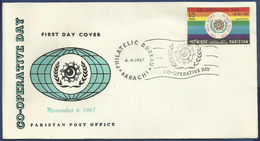 PAKISTAN 1967 MNH FIRST DAY COVER CO-OPERATIVE DAY - Pakistan