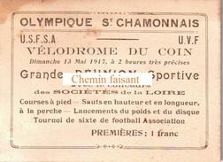 Carte-ticket D'entrée Premières OLYMPIQUE CHAMONNAIS Vélodrome Du Coin -  Scans Recto-verso - Biglietti D'ingresso