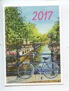 Amsterdam - Sur Le Pont à Amsterdam 2017 (Elodie Cazes Arts Peinture) Calendrier - Amsterdam