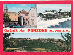 Modern Multi View Post Card Of Ponzone, Piedmont, Italy,Posted With Stamp,D13. - Other Cities