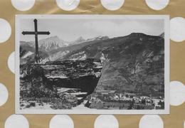 CPSM 73 BOURG SAINT MAURICE  LE MASSIF DU ROGNAIX 3.000 METRES ET CROIX DE NOTRE DAME DE TOUT POUVOIR - Bourg Saint Maurice