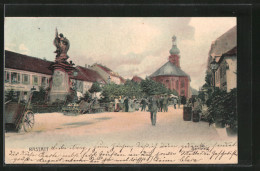 AK Rastatt, Blick Auf Den Marktplatz - Rastatt
