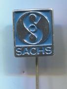 Motorbike, Motorcycle, Motorrad, Scooter - SACHS, F&S Fichtel & Sachs AG Germany, Vintage Pin Badge, Abzeichen - Motos