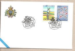 San Marino - Busta Commemorativa Con Annullo Speciale - Cinquantenario Della Coppa Placci - 2001 - Ciclismo