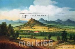 Czech Republic - 2009 - Volcanic Mountains Of North-East Bohemia - Mint Souvenir Sheet - Ongebruikt