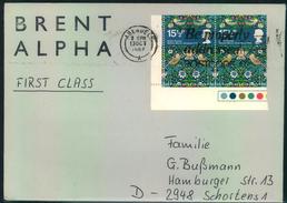1982, Letter From Platform BRENT ALPHA Cancelled ABERDEEN